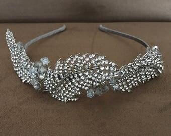 Crystal Feathers Vintage Headband