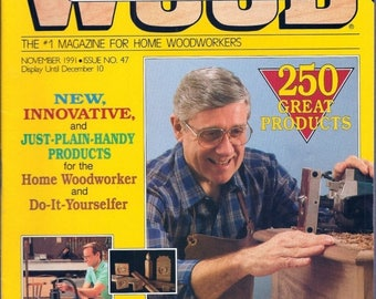 Summer Sale WOOD by Better Homes And Gardens November 1991 Issue No.47 Products Guide