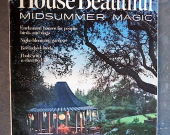 House Beautiful June 1965 Magazine Midsummer Magic Issue