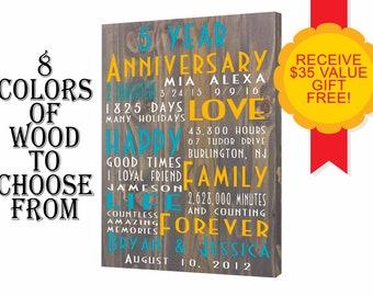 5th anniversary, anniversary gift, 5 th anniversary, 5 year anniversary, fifth anniversary gift, wood anniversary, silverware anniversary