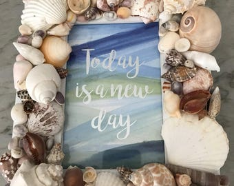 Coastal sea shell 4x6 picture frame