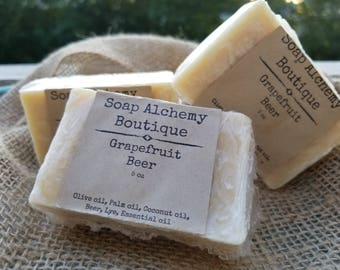 Grapefruit Beer Soap