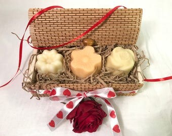 Solid lotion bars set, solid lotion gift, moisturizing body bar, natural solid lotion set, massage body bar, body lotion gift, gift for her
