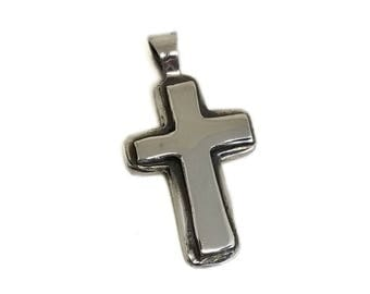 Sterling Silver Layered Cross Pendant C15
