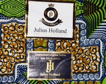 Julius Holland Wax Block Print African fabric Dutch wax Sold by the yard 100% cotton Patterned fabric African fashion Dovetailed London