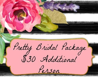 Additional person for Pretty Bridal Package
