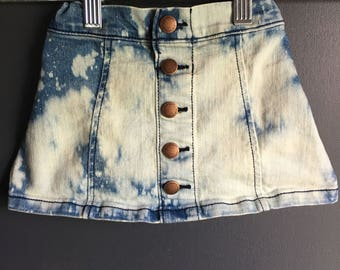 18-24 month denim button up skirt repurposed/ upcycled