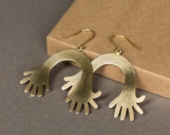 Double Hand Earrings