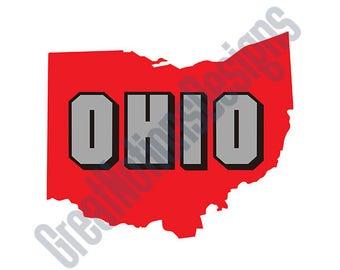 Ohio State SVG - HTV - Vinyl Cutting Graphic Art