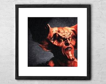 Lord of Darkness - Legend - Tim Curry - Painting - Dark Art - Horror Decor - Horror Art -  Darkness - Satan - Dark Lord - Horror Movie Art