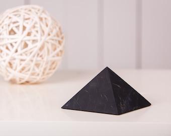 Shungite Pyramid 2.36 - 4 inch Healing Stone, EMF Shield Chakra Ballance, stone crafting, shungite energy stone, gift for her him