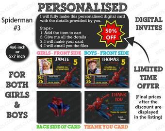 Spiderman Invitation, Spiderman Birthday Invite, Spiderman Birthday Invitation, Spiderman Birthday Party Invite, Spider Invite, Spider Party