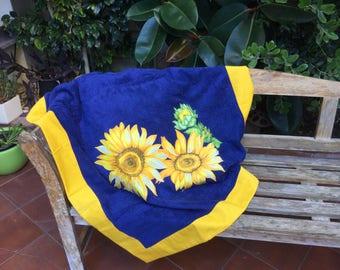 Beach towel with Sunflowers