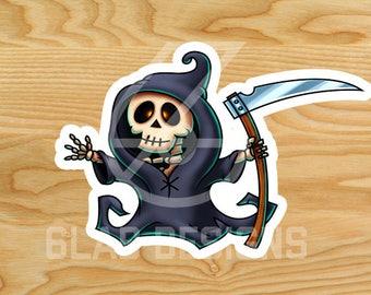 Death Cartoon Sticker (small)
