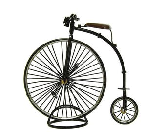 Miniature bicycle model 1870 The High Wheeler PENNY FARTHING