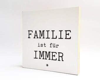 """""""Family is Forever"""" 15x15cm-qualitaetsdruck-on-Photo medium"""