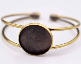 5pcs/Lot 20mm Circle Bezel Bracelet Blank-20mm Round Bangle Bracelet-Blank Bracelet Cuff-Bangle Bracelet Tray-20mm Round Bezel Setting