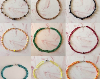 Handmade beaded necklaces - custom colors available