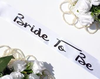 Bride To Be Sash Bachelorette Sash Bride Sash, Bride to Be, Wedding Sash, Customized sash, Bachelorette Party, Bridal Party Sash, Bride
