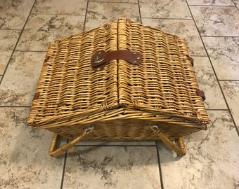 Wicker Picnic Basket with Handles