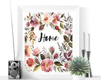 Cottage Chic Art | Floral Home Art Printable | Floral Art | Flower Print | Home Decor | Hallway Art | Digital Download