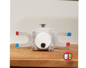 Magnemite Pokemon Cube Plushie - 2 Inch Felt Cube