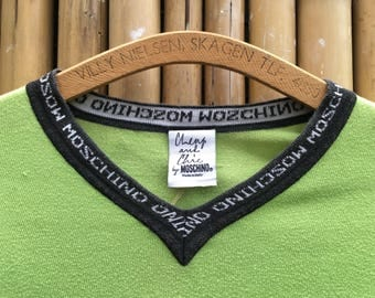 Vintage 90s Cheap & Chic MOSCHINO Long Sleeve T Shirt