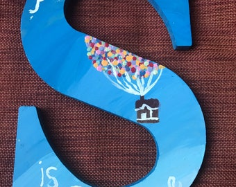 "Disney's ""Up"" handpainted letter of your choice"