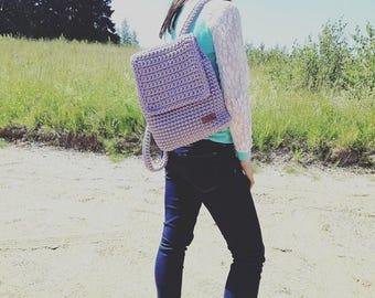 Crochet backpack, crochet rope bag, handmade backpack, women's rucksack, knitted backpack, summer backpack,  gift for her, backpack purse