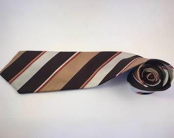 Vintage SAN MARINO brown/beige/red necktie