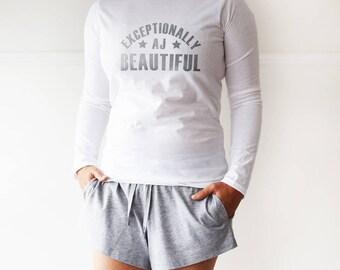 Personalised Exceptionally Loungewear Pyjama Gift Set
