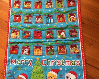 Quilted Christmas Advent Calendar - Cat
