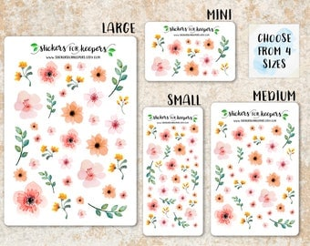 Floral Stickers, Flower Stickers, Decorative Stickers, Planner Stickers, Bullet Journal Stickers, TN Stickers, Floral Planner Stickers 3