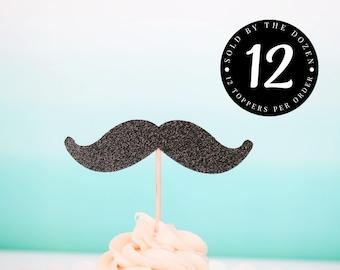 Mustache Cupcake Toppers Mr Wonderful Birthday Little Man Baby Shower Mustache Baby Shower Boy First Birthday Mustache Birthday