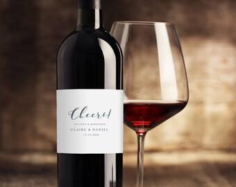 Wedding Wine Label Template, Printable Wine Labels, DIY Wine Bottle Labels, Wedding Wine Labels, Editable Wine Labels For Weddings KPC06_209