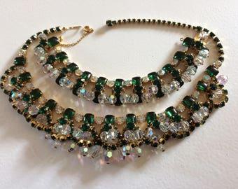Stunning Vintage Delizza & Elster  'Juliana' Necklace and Bracelet Demi Parure