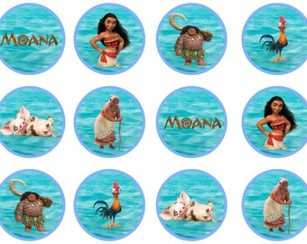 Moana Cupcake Toppers
