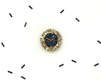 Hand Made sequin watch pin