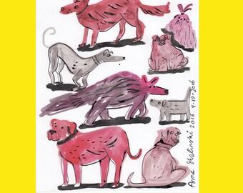 Dog original drawing