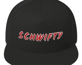 Rick and Morty Schwifty  Embroidered Flat Bill Cap