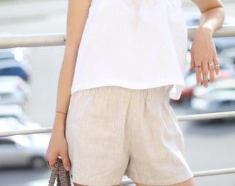 Shorts. 100% linen.