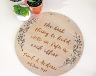 Wedding  Gift Custom Wooden Plaque
