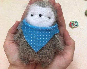 Crochet owl, knit owl, wool owl, owlet, crochet owlet, crochet bird, knit bird, bird, crochet toy, toy owl, soft bird, toy owlet, wool toy