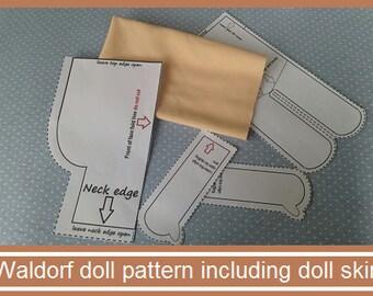 Waldorf doll pattern including doll skin