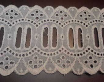 Vintage white By the Yard eyelet trim, sewing trim, craft trim, wedding trim