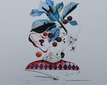 El Salvador DALI - Harlequin - Printographie 800ex cherry