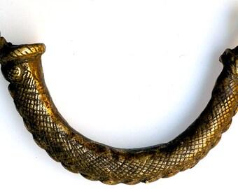Antique Bronze Lobi Pendant from Burkina Faso - Vintage West African Bronze Pendant - BR452