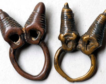 Antique Bronze Dogon Rings from Mali, West Africa - BR669