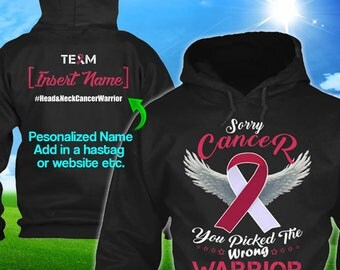 Personalized Head Neck Cancer Awareness Hoodie Burgundy Ivory Ribbon Warrior Men Women Kid Youth Custom Unisex Pullover Gift Winter Cloth