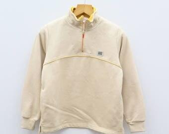 Vintage MICHIKO LONDON Sports Yellow Sweater Sweatshirts Size M